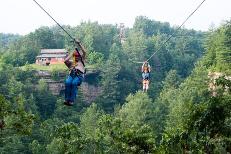 zipline red river gorge